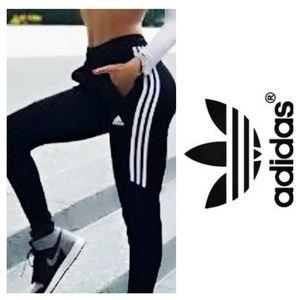 Adidas Joggers Unique Blue Bottom Accent & Zip